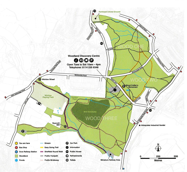 """Map of Ecclesall Woods"