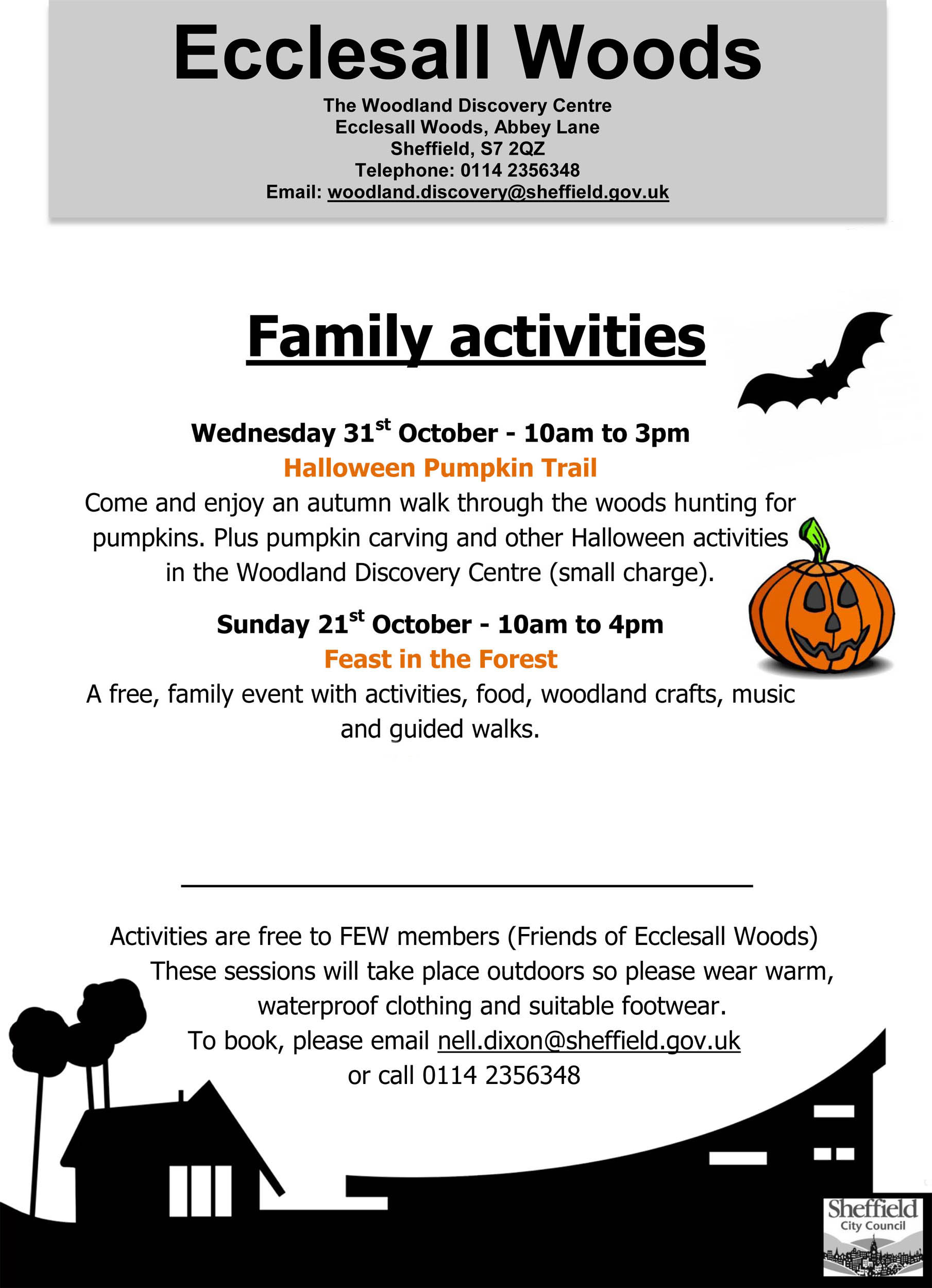 Family Events in Ecclesall Woods this Autumn
