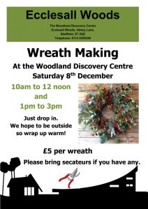Wreath making workshop – Saturday 8th December