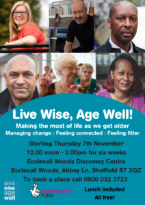 Resilience workshops for the Over 50s