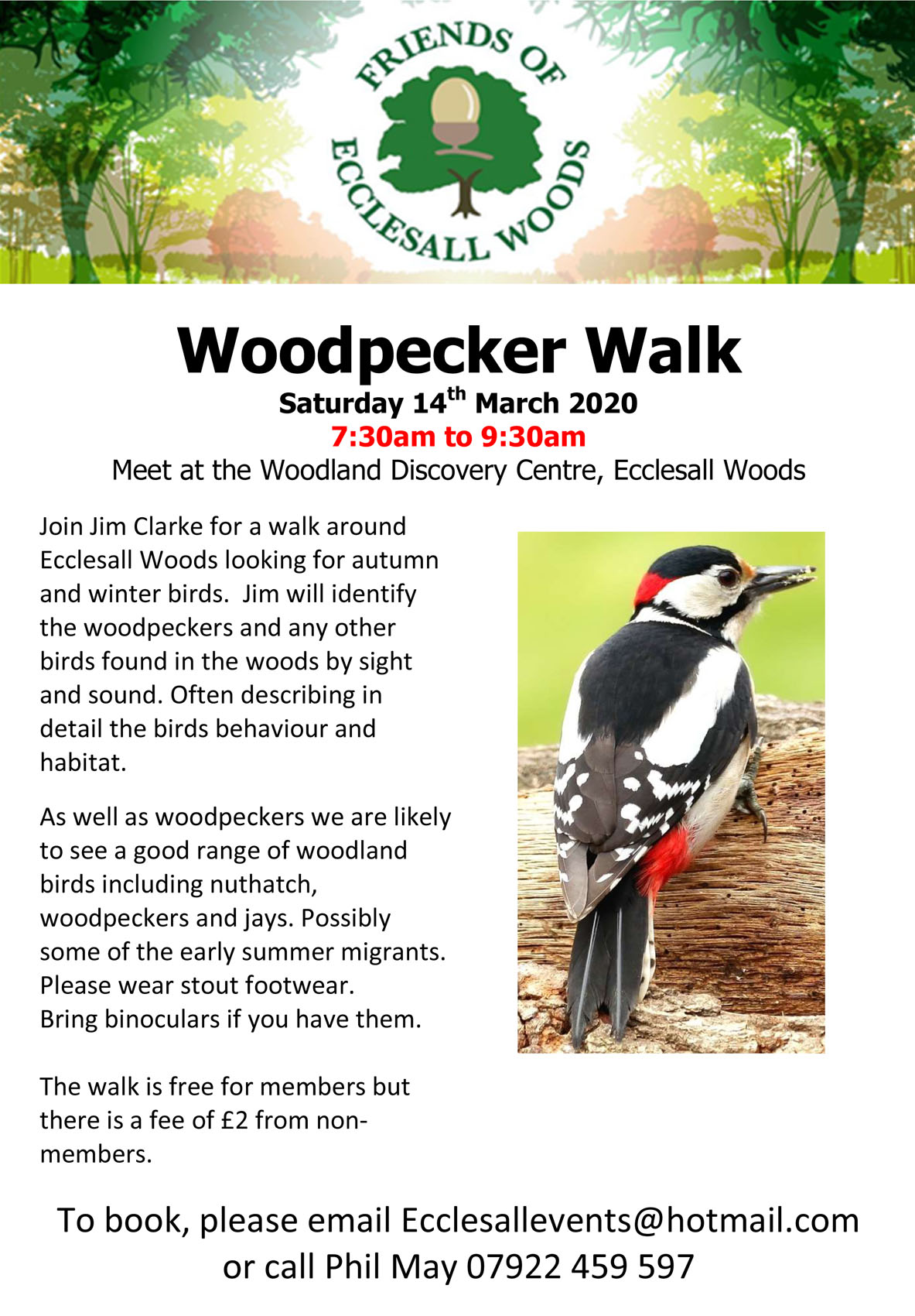 Woodpecker Walk at Ecclesall Woods – Saturday 14th March 2020