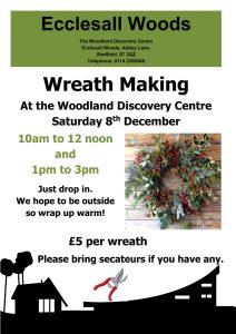 Wreath making workshop – Saturday 8th December