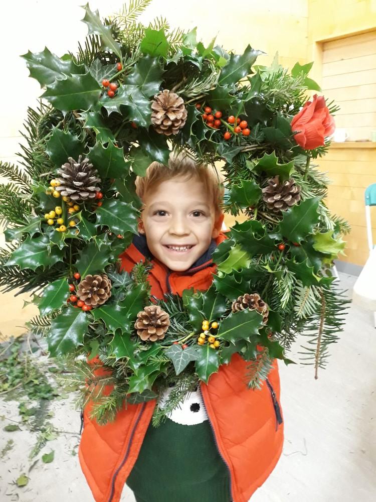 Wreath-making success!